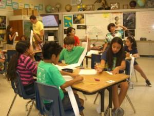 Children at Hacienda Elementary School