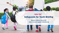 Image of Safeguards for Youth Webinar Promotional Flier