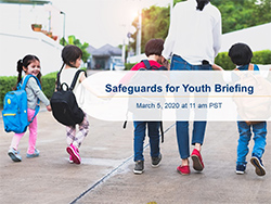 Image of Safeguards for Youth Briefing Title Slide