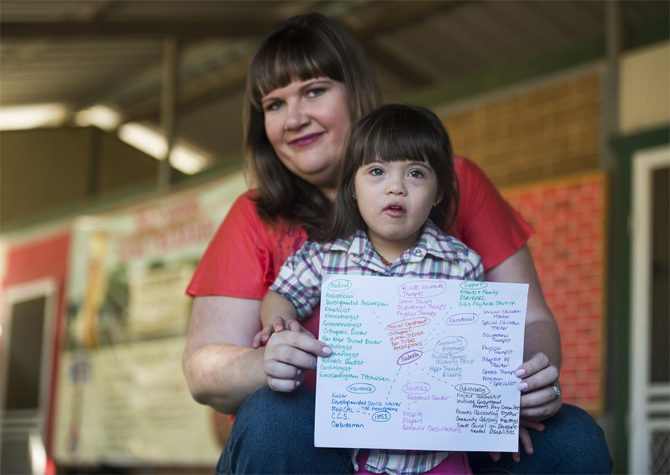 "A parent shares an example of a ""care map,"" which illustrates the complicated web of medical care and coverage, as well as educational and support services needed for children with special health care needs and their families."